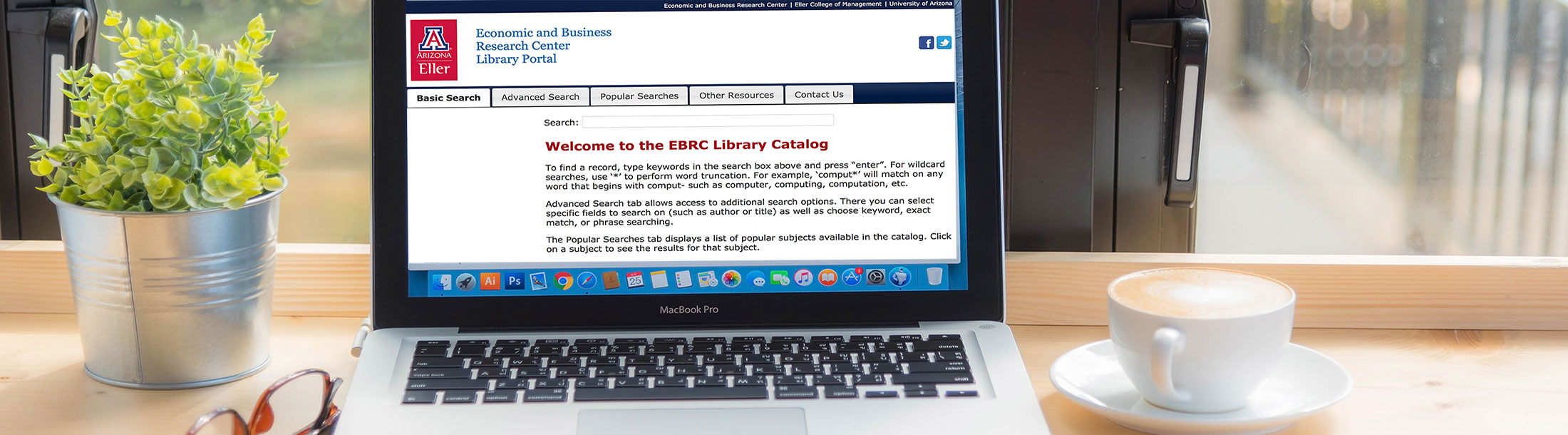 Economic and Business Research Center Library Online Search Tool