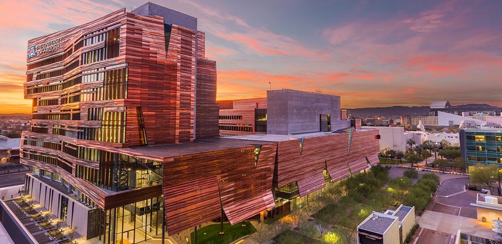 University of Arizona downtown Phoenix campus at evening