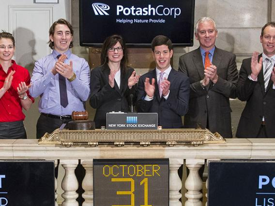 Ian Glasner with PotashCorp at NYSE
