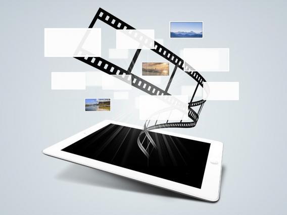 An iPad image showing big data
