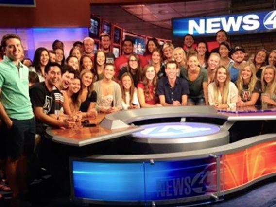 Eller students at KVOA News 4 studio