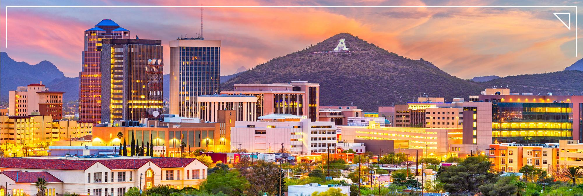 Tucson at sunset