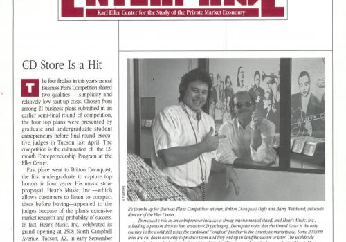 1991- Fall/Winter issue of Enterprise, the publication of the Karl Eller Center