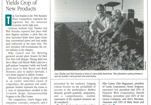 1992- Fall/Winter issue of Enterprise, the publication of the Karl Eller Center