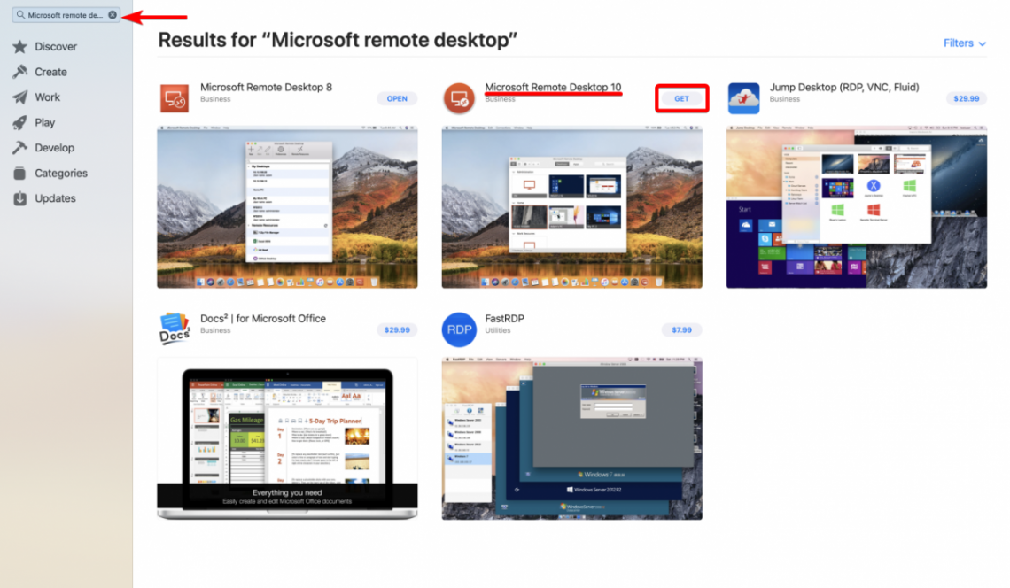 RDS resource Search Remote Desktop on AppStore