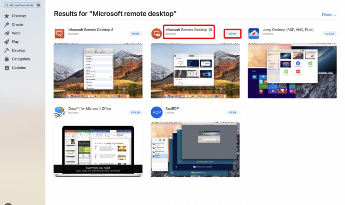 RDS resource Download Remote Desktop into your Mac