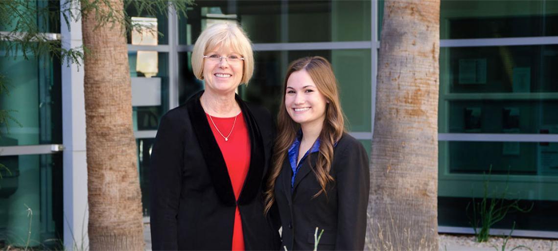 Lydia Buchanan and Hannah McBride