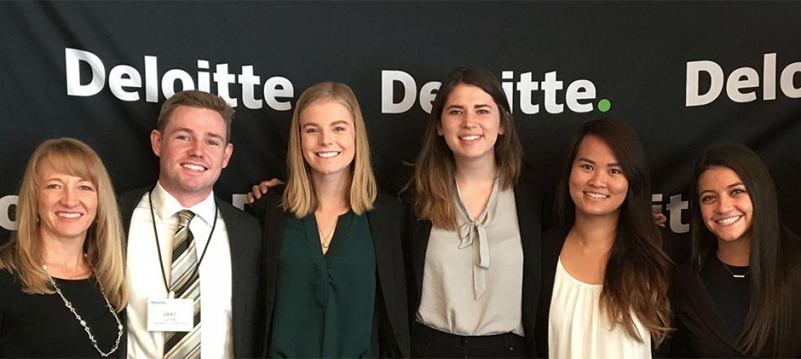 Eller Undergraduates Score Big Win in Deloitte Audit Innovation Campus Challenge