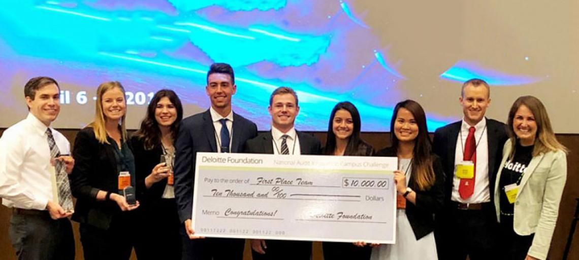 Eller Team Wins at Deloitte Competition