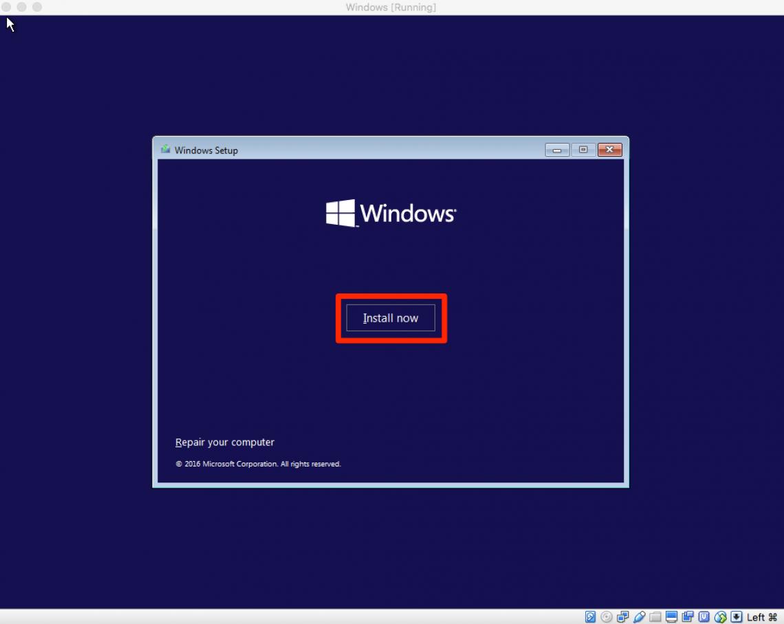 click on install