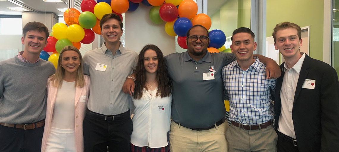 Student attendees of LGBTQ+ Breakfast