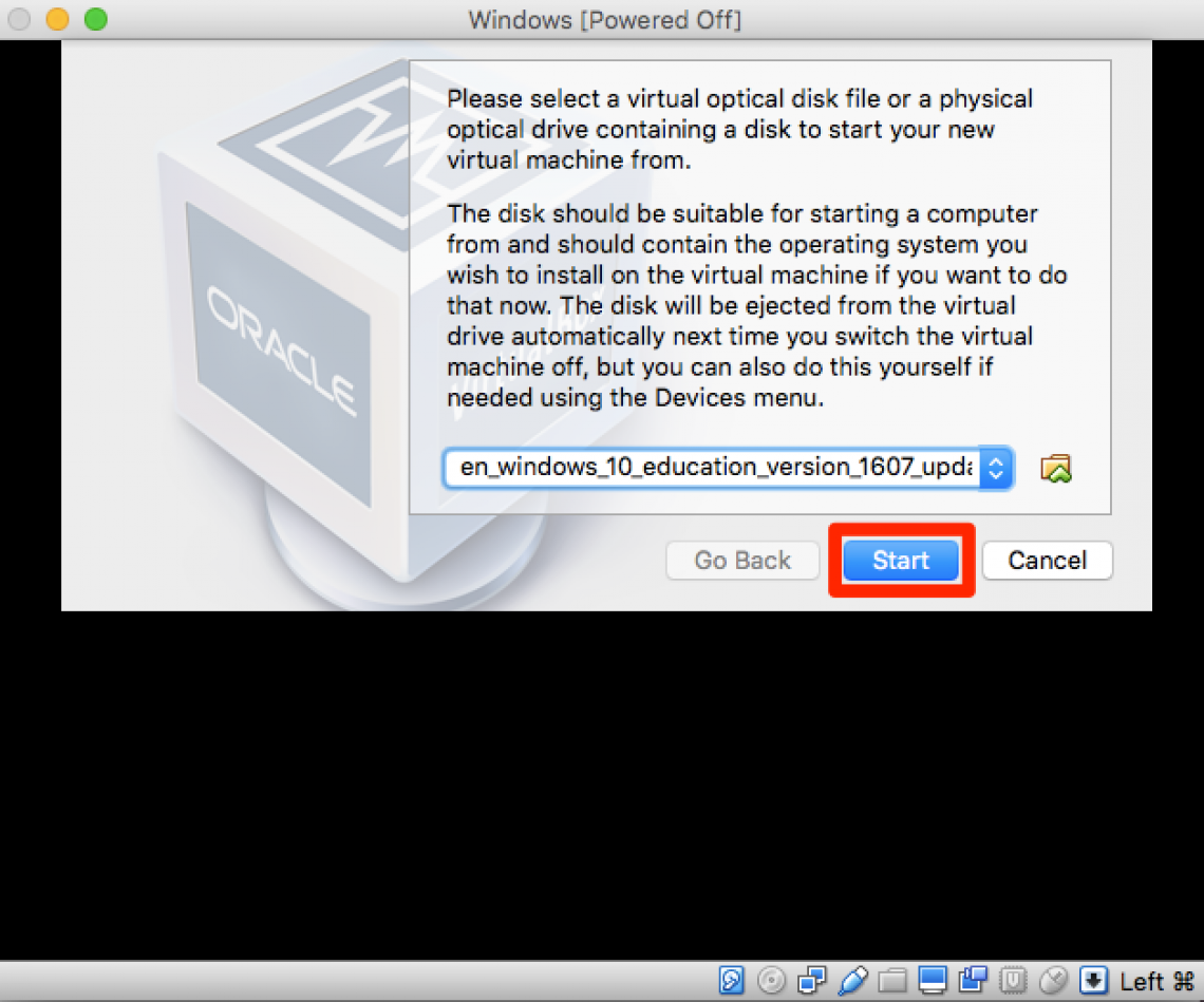 load disk image
