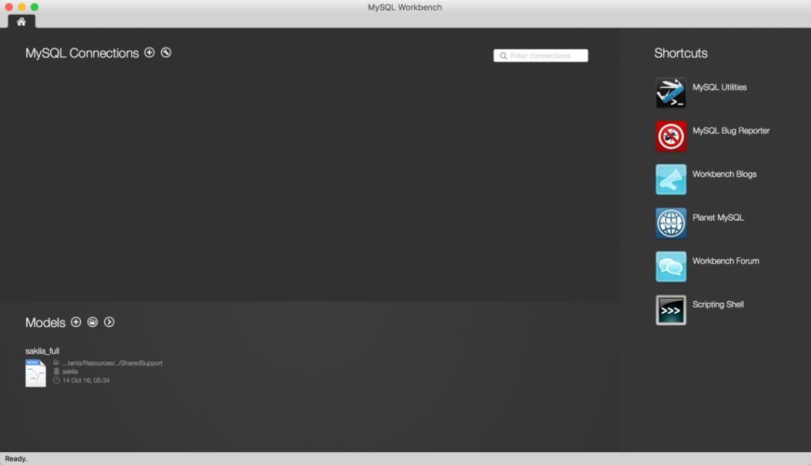 Open MySQL Workbench
