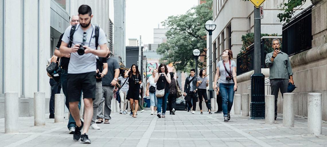 People walking in the city
