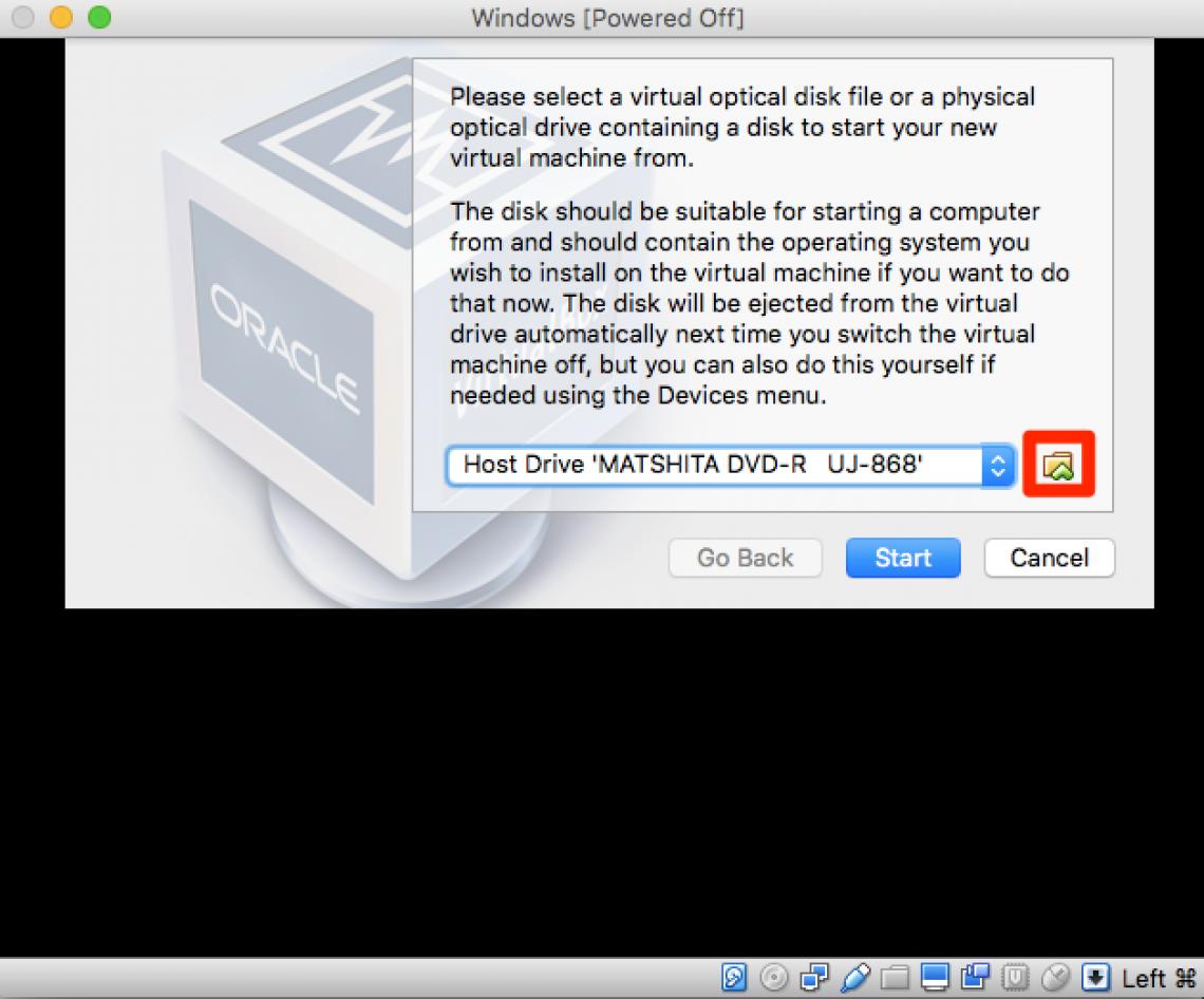 select disk image