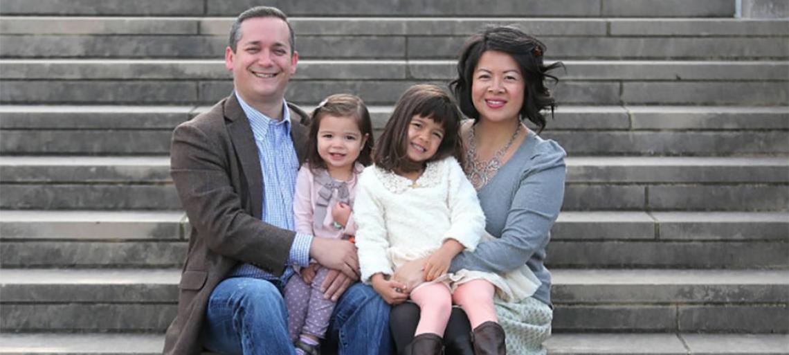 Vanessa Lim Egle and family