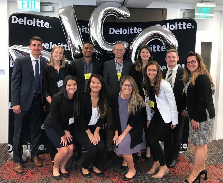 Eller undergraduate team at Deloitte competition