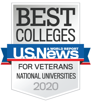 U.S. News & World Report Best Colleges for Veterans: National Universities 2020